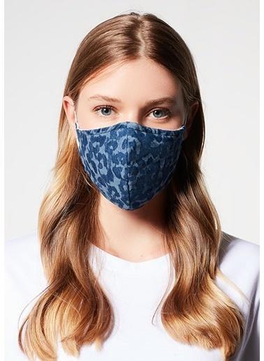 Mavi Kadın  Baskılı Maske 198069-18790 İndigo
